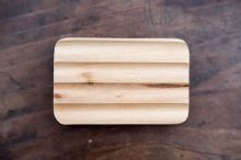 Hemu Wood Soap Dish - Corrugated & Made from Sustainable Wood